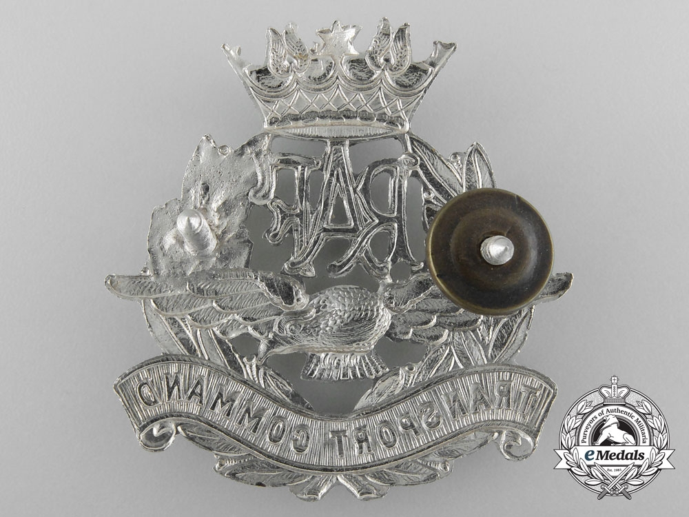 A Second War RAF Transport Command; Officer's Peaked Cap Badge
