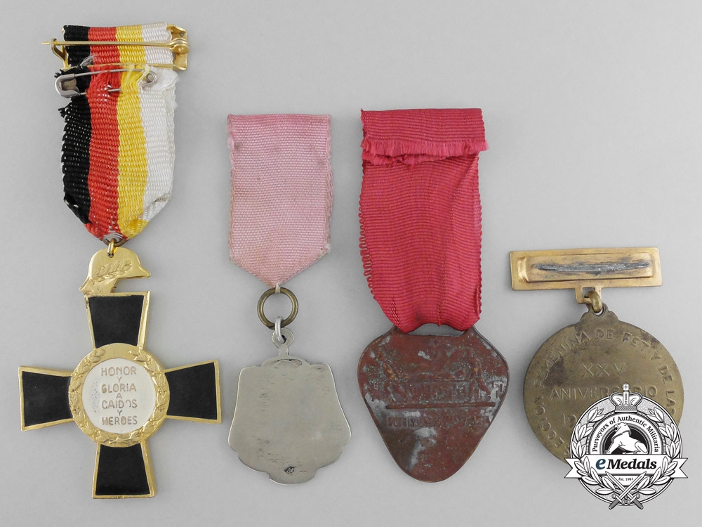 Four spanish medals awards and decorations for Awards decoration