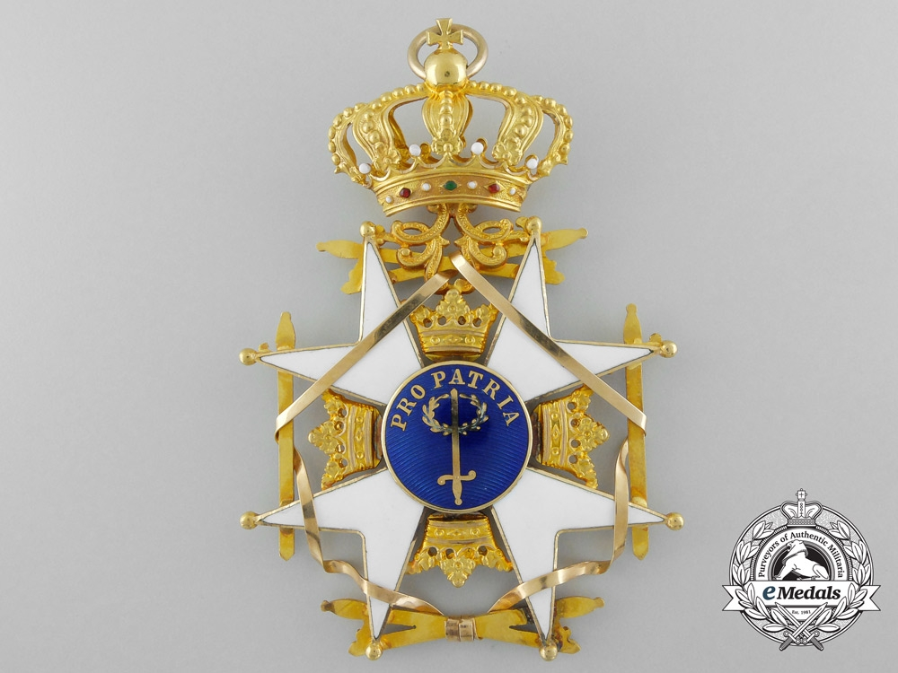 Sweden, Kingdom. An Order of the Sword in Gold, by C.F. Carlman, c.1969
