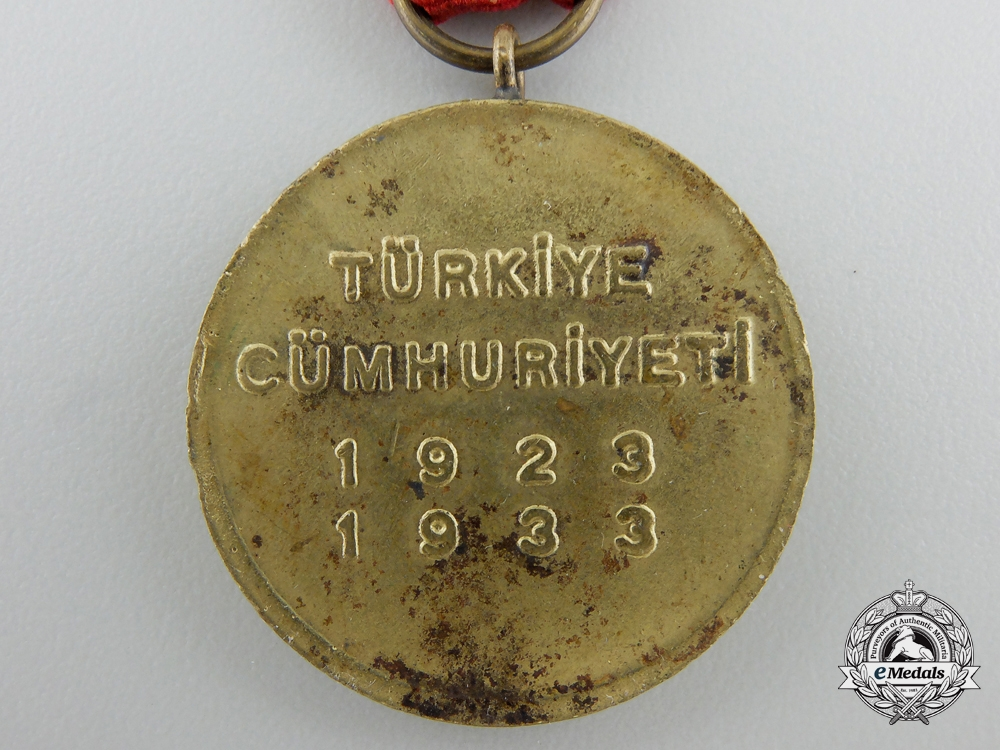 A Commemorative Medal for the 10th Anniversary Of Turkish Republic