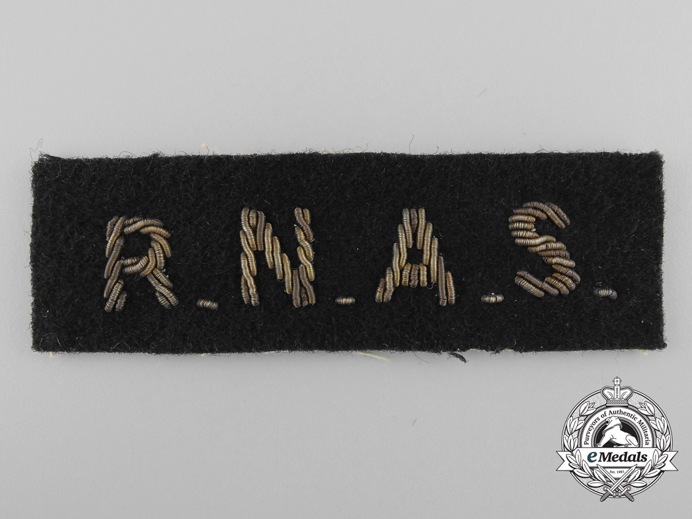 A Royal Naval Air Service (RNAS) Shoulder Flash