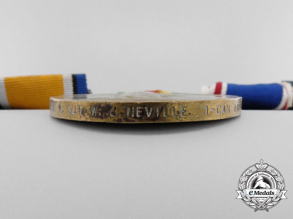 A Fine Grouping to Acting Regimental Sergeant Major Neville; North Hampshire; 91st Battalion & Elgin Regiment