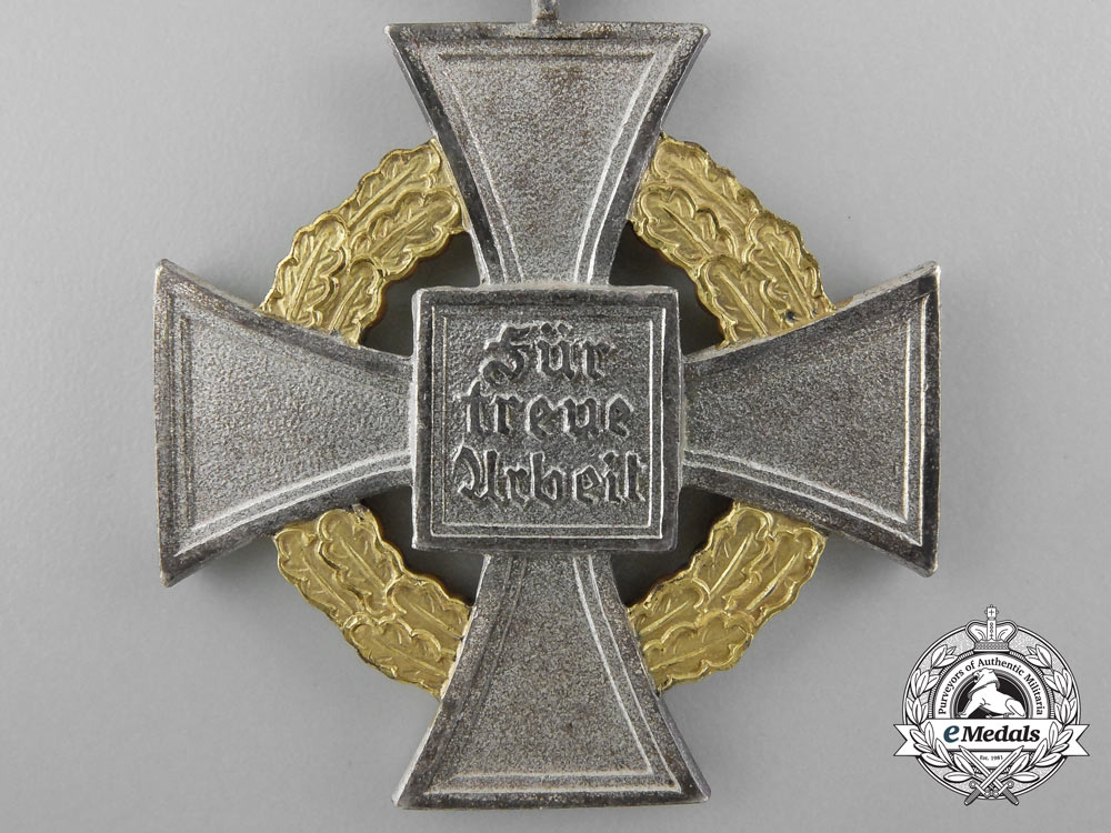 A Faithful Service Decoration; Special Class Cross for 50 Years' Service & Miniature