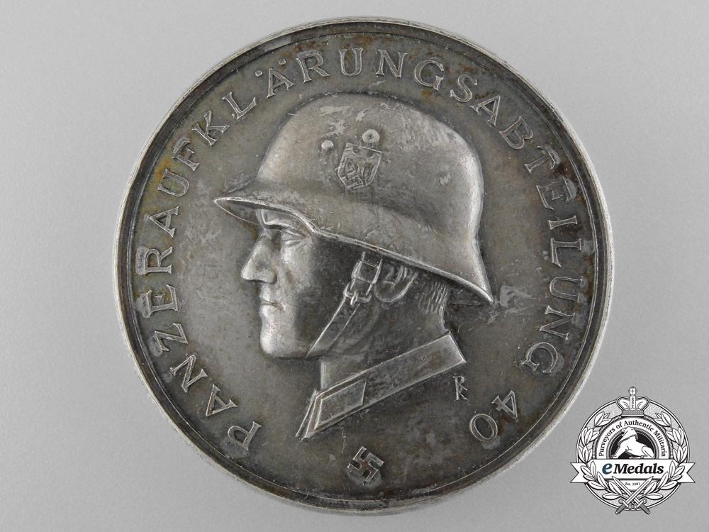 A 1940 14th Panzer Division Medal by Deschler
