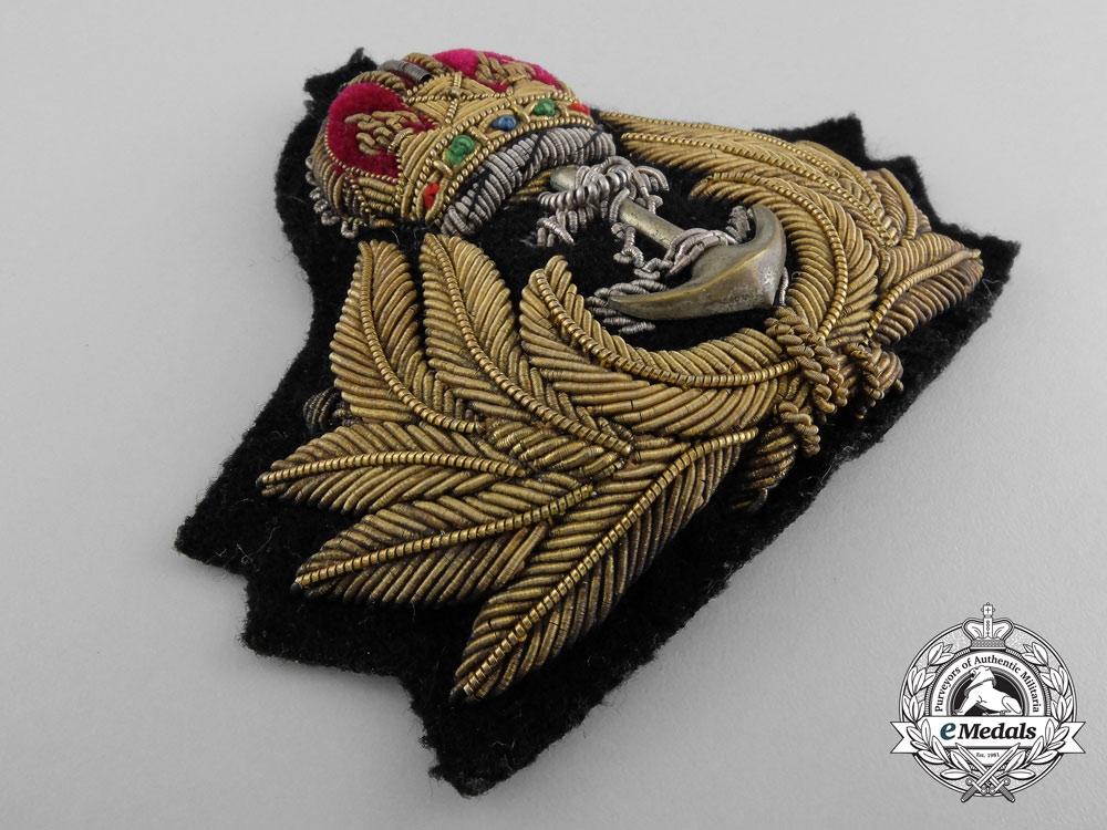 A Pre-Second World War Royal Canadian Navy (RCN) Officer's Cap Badge