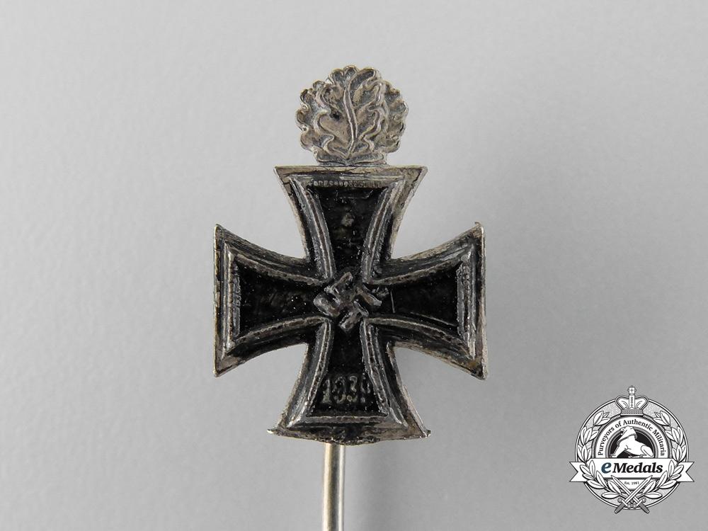 A Miniature Knights Cross with Oak Leaves Stickpin