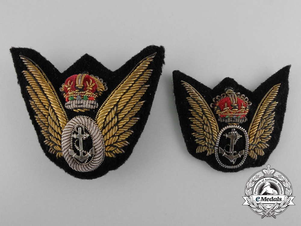 Two British Fleet Air Arm Observer Badges