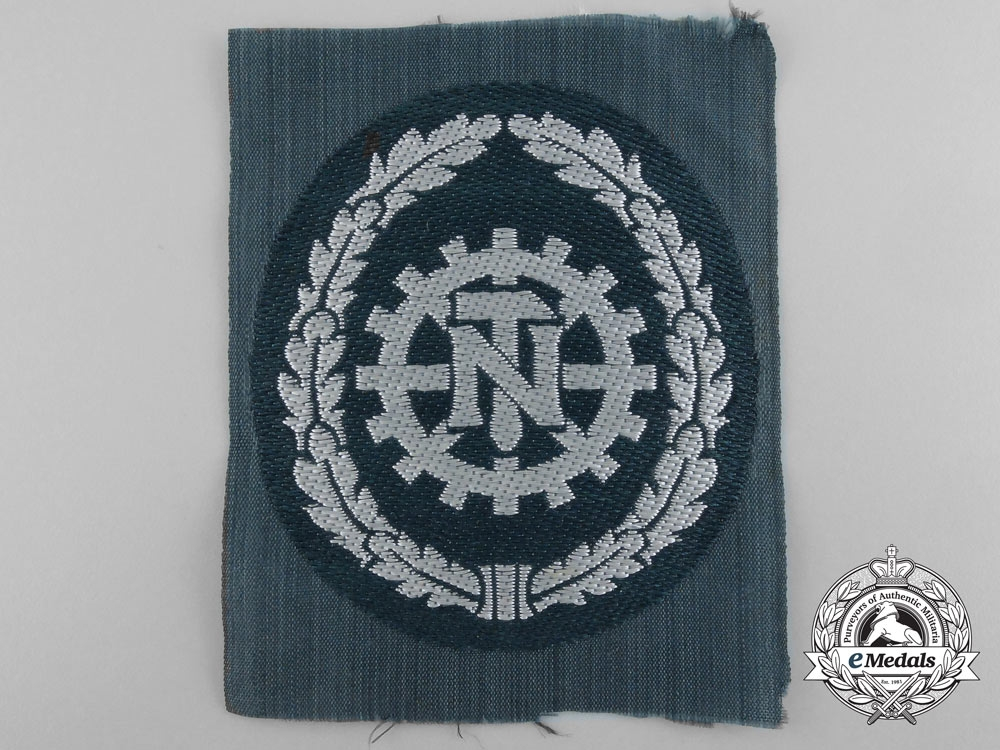 Germany. A Technical Emergency Service (TeNo) Sleeve Badge