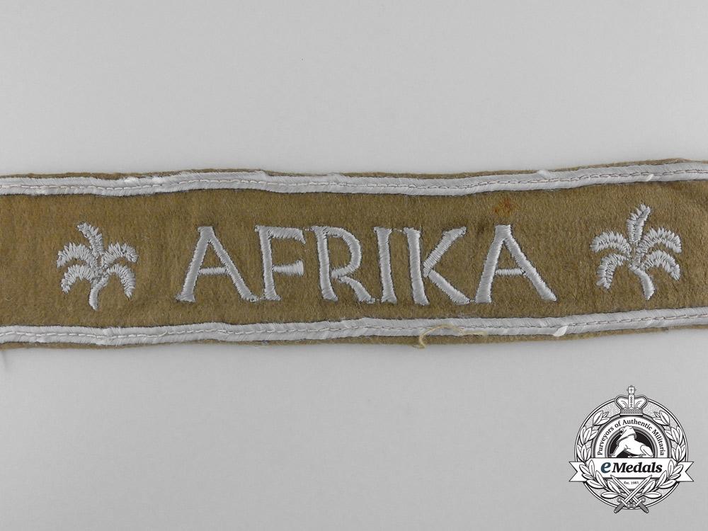 A Third Reich Period African Campaign Cuff Title; Uniform Removed