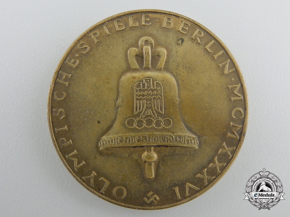 A XI Summer Olympic Games Berlin Medal 1936