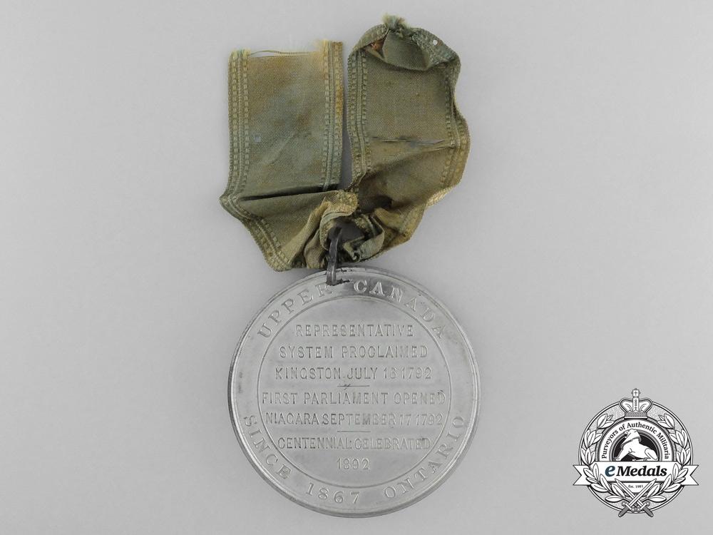A 1791-96 Upper Canada John Graves Simcoe Medal