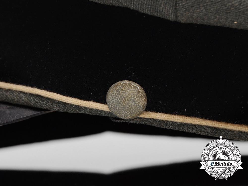 A Rare Waffen-SS Officer's Visor Cap (Schirmmütze)