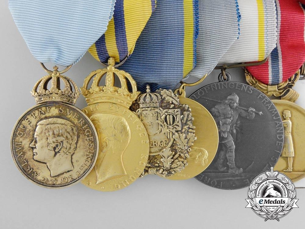 A Swedish Award Grouping to Skier, Officer and Sportswriter Sigfrid (Sigge) Bergman