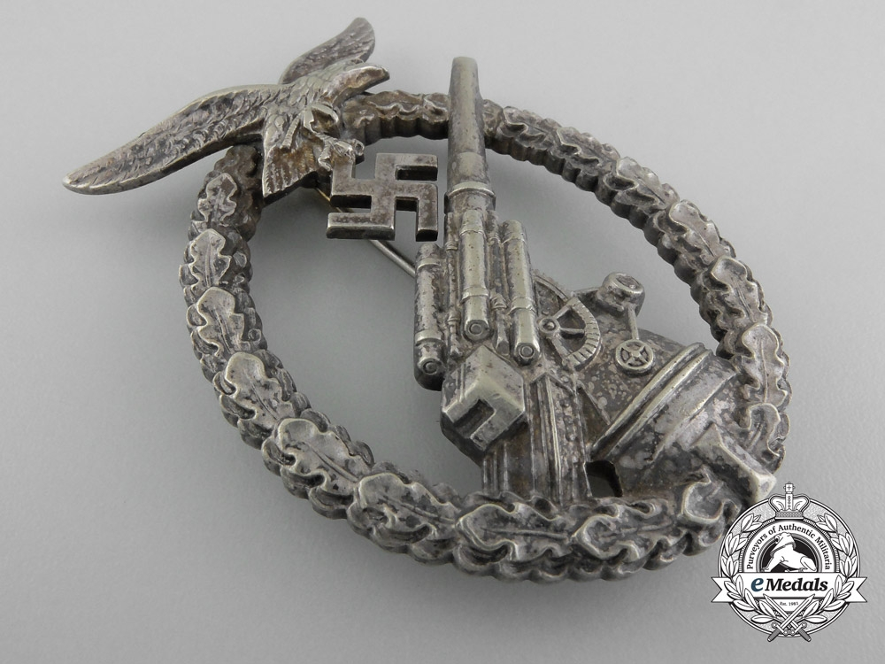 An Early Luftwaffe Flak Badge by Adolf Scholze