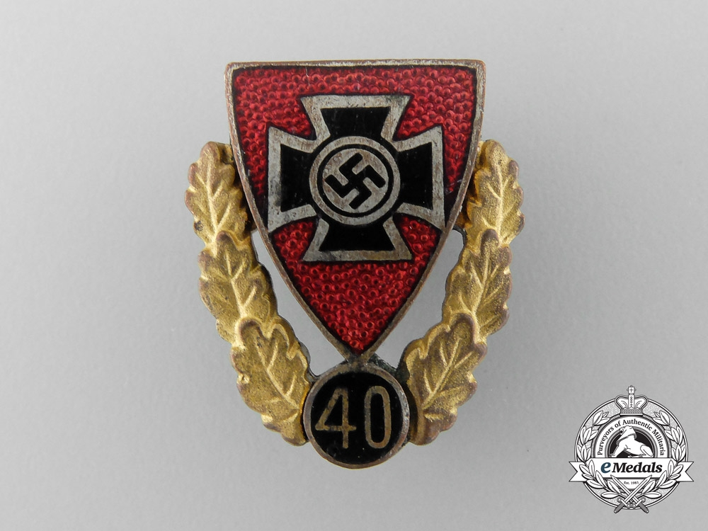 A German Veterans Association Forty Year Membership Badge