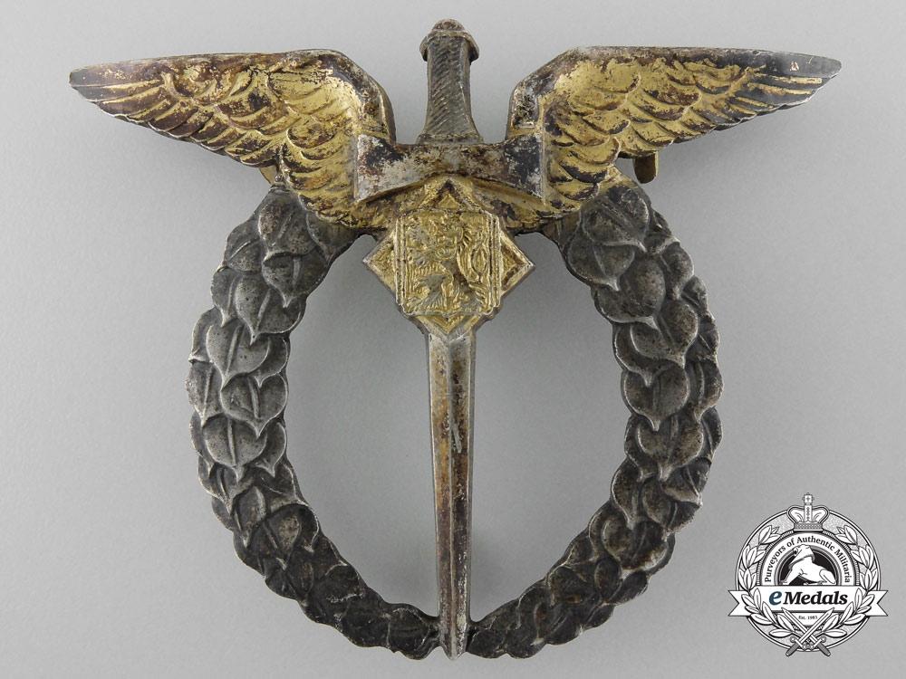 A Second War Czech Pilot Badge by Provaznik A. Spol. Praha