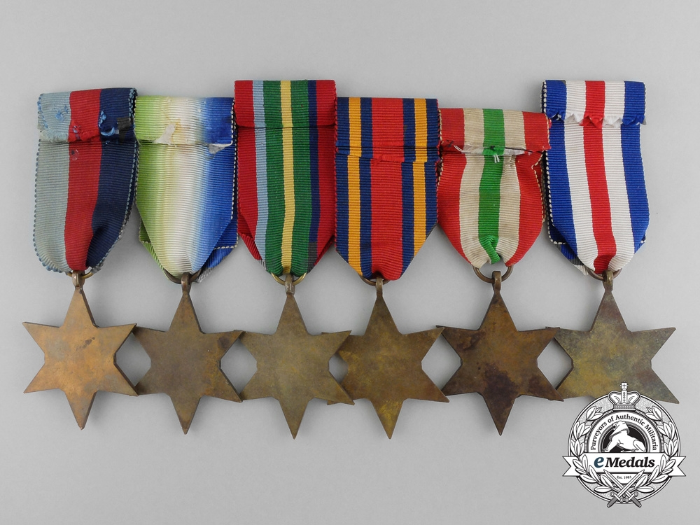 Six Second War Campaign Stars