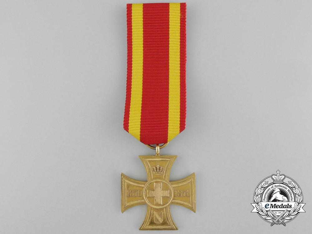 A 1870-1871 Baden Cross for War Aid Volunteers