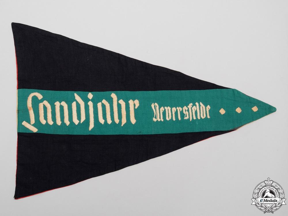 "Germany, HJ. A ""Landjahr Neversfelde"" Pennant"