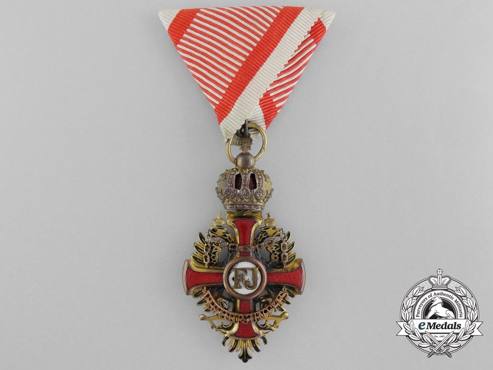 A First War Austrian Order of Franz Joseph by Wilhelm Kunz
