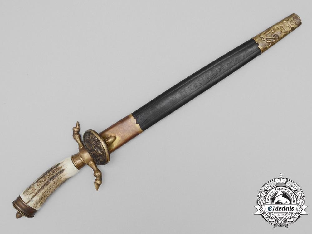 A Post War German Hunting Dagger by Weyersberg & Co, Soligen