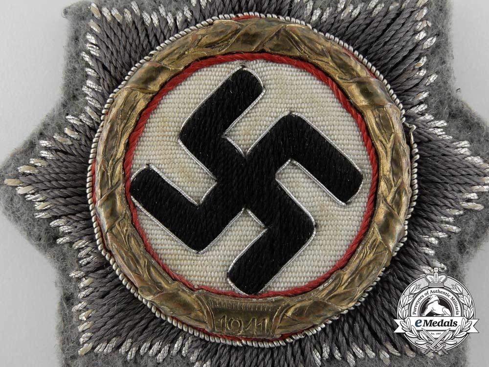 A German Cross In Gold Cloth Version For Sssturmgeschuetz Units