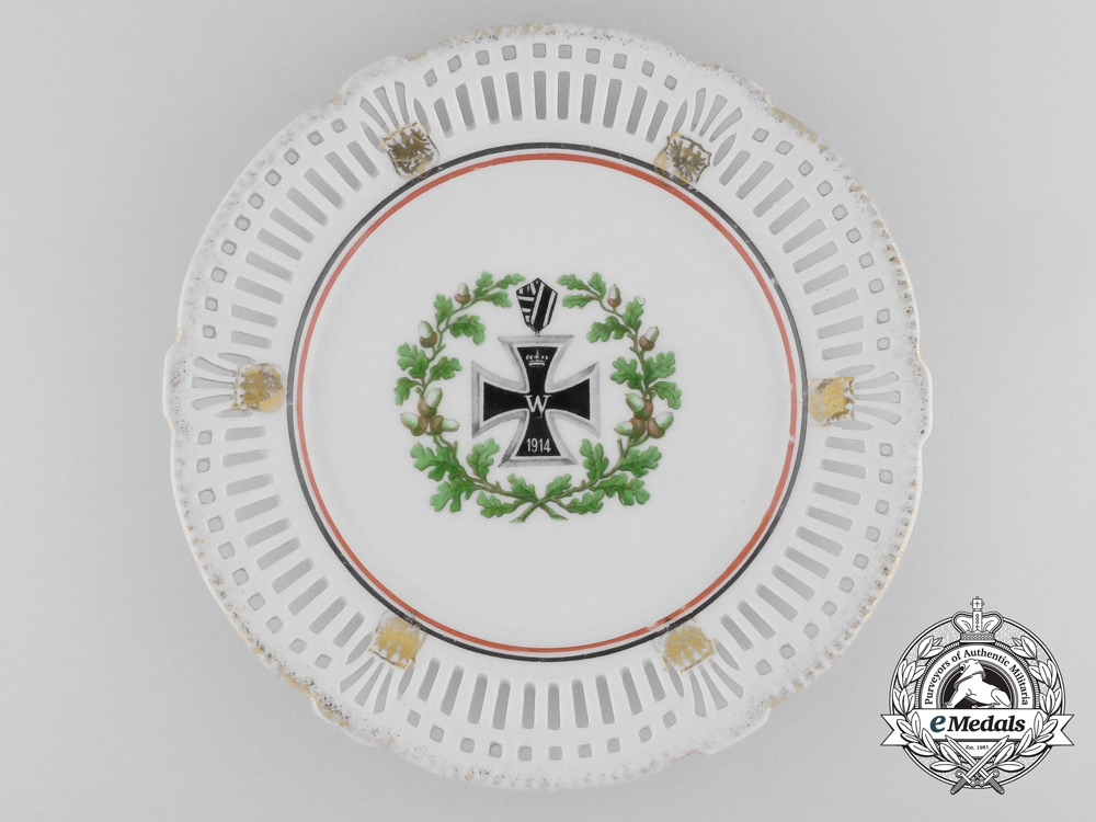 A First War German Imperial Iron Cross 1914 Commemorative Plate