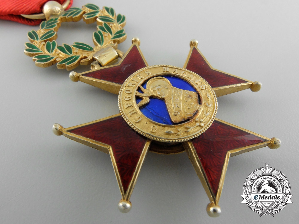 An Order of St. Gregory; Officer's Cross