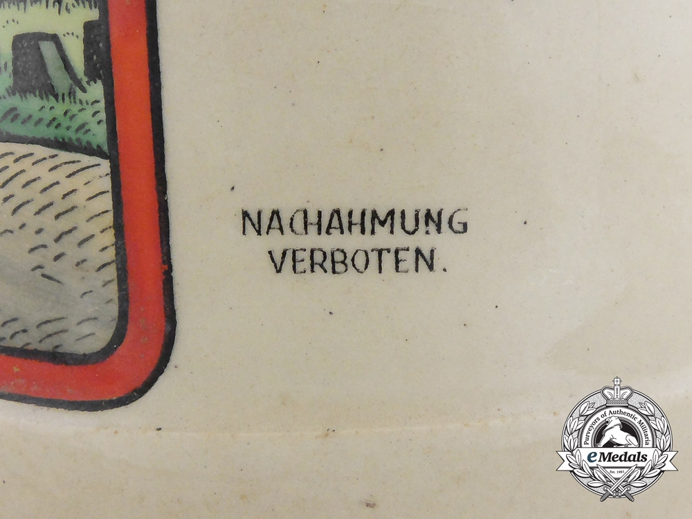 A Second War German Bier Stein in Remembrance of the Siegfried Line (West Wall)