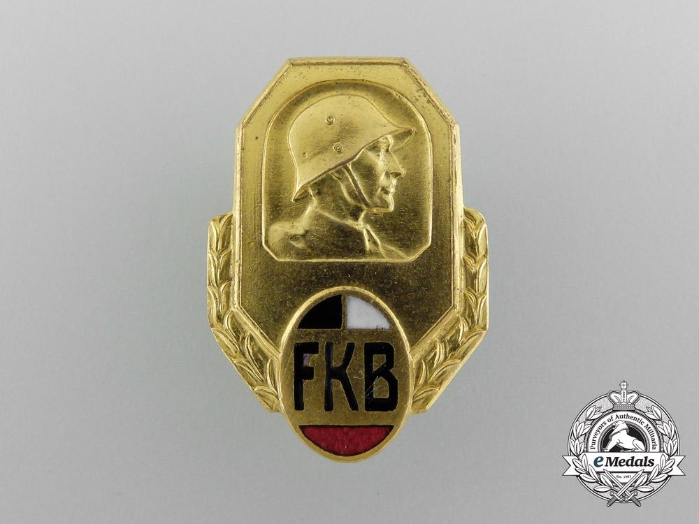 An Imperial German Freikorps Association Badge by Gischler & Sohn