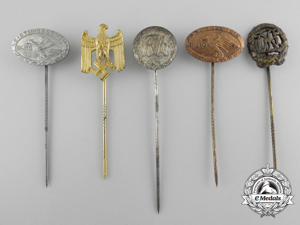 Five Second War German Stickpins