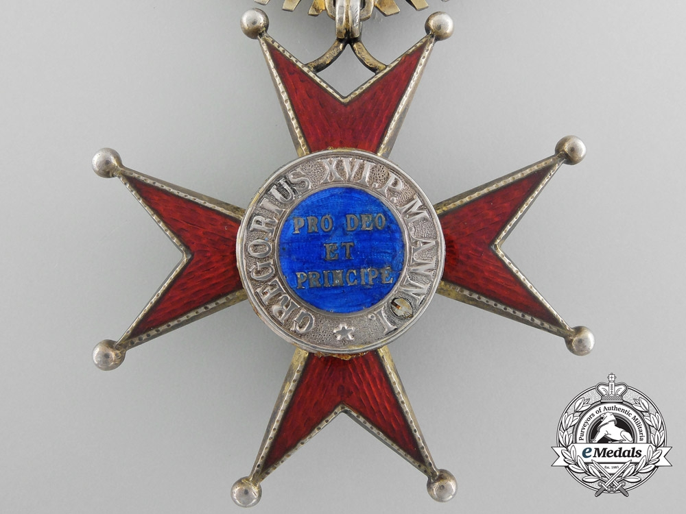 An Order of St. Gregory the Great; Military Division Grand Cross by Tanfani & Bertarelli