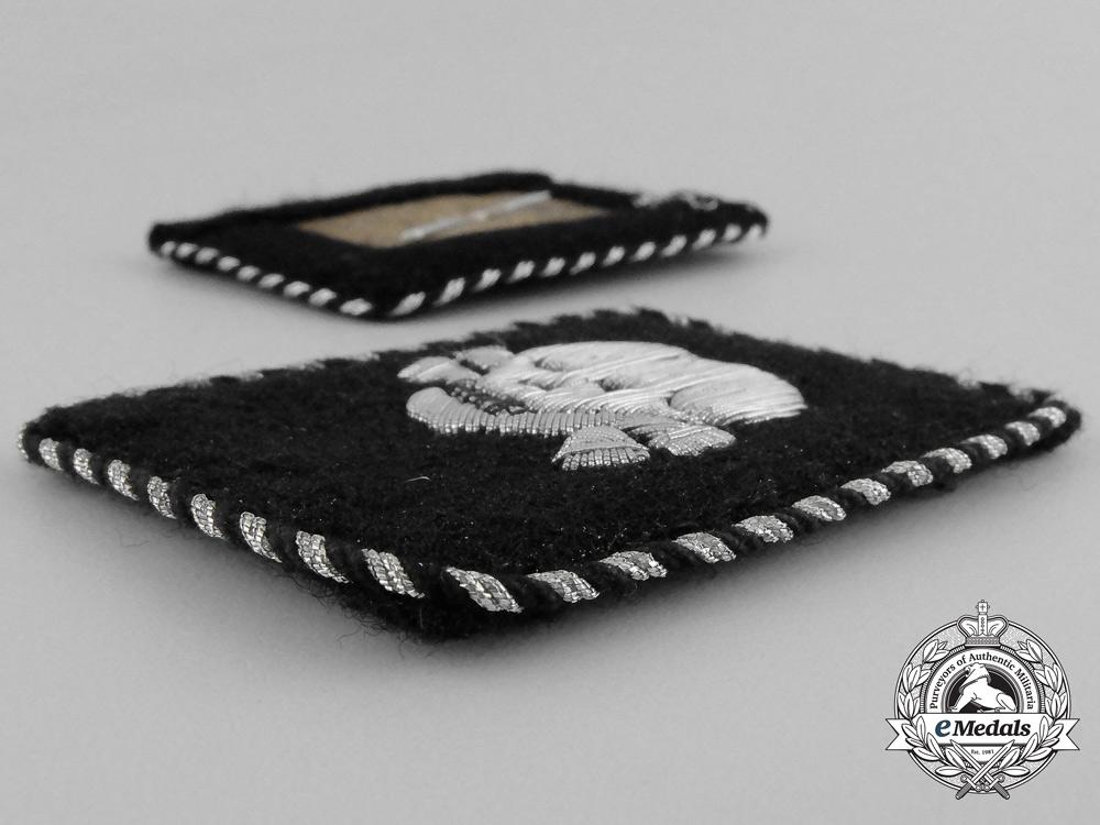 A Set of Waffen-SS Totenkopfverband Unterscharführer Rank Collar Tabs; RZM Tagged