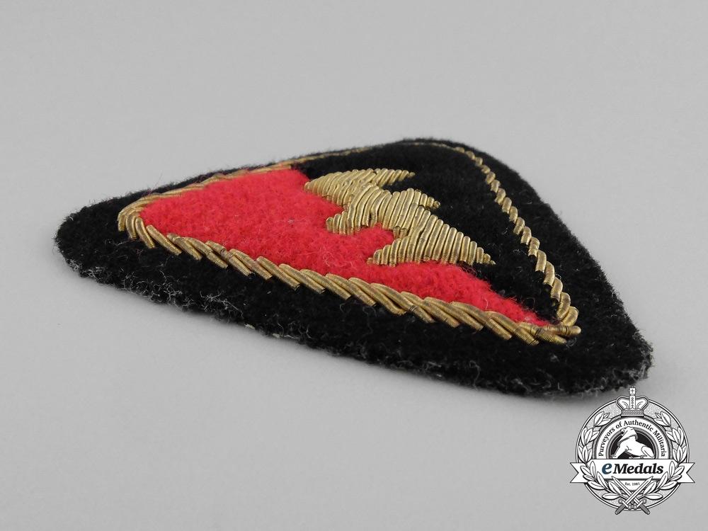 A Third Reich Period Dutch NSB Officer's Sleeve Patch