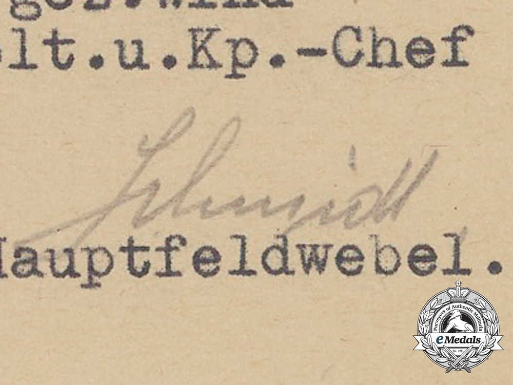 A List of Assets for Fallen Grenadier Alfred Paulfeuerborn 1944
