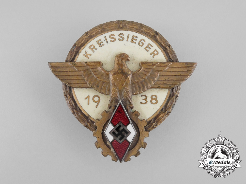 A 1938 Victors Badge of the District Level National Trade Competition by Brehmer