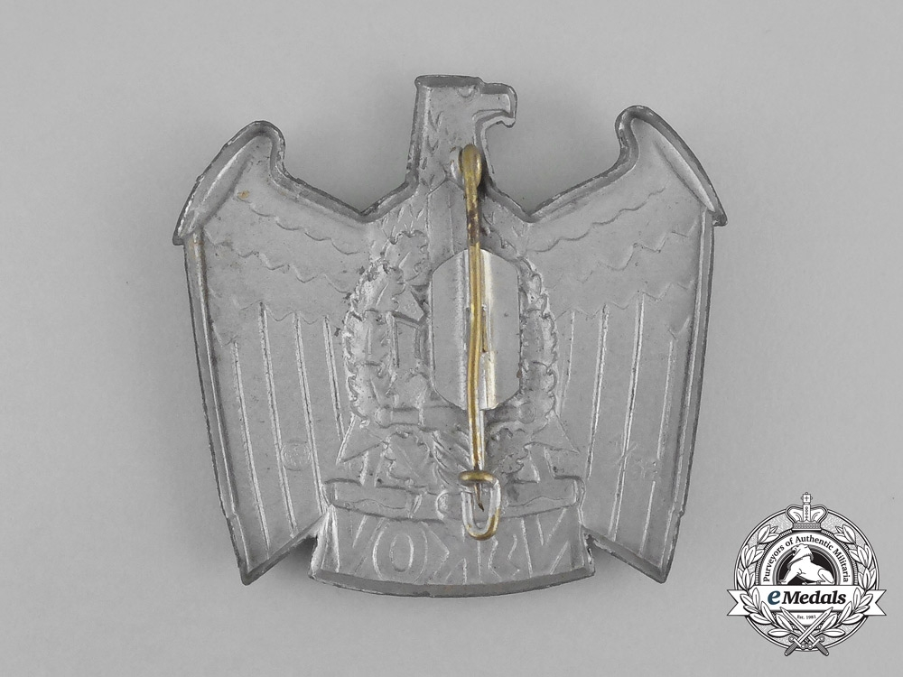 A NSKOV (National Socialist War Victim's Care) Cap Badge by Deschler & Sohn