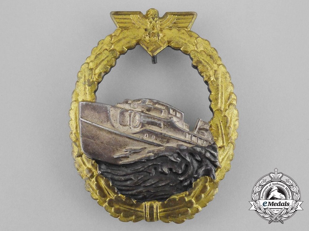 A Kriegsmarine E-Boat Badge; 1st Type by Georg Schwerin