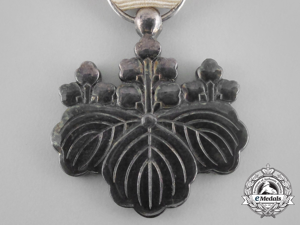 A Japanese Order of the Rising Sun; 8th Class with Case