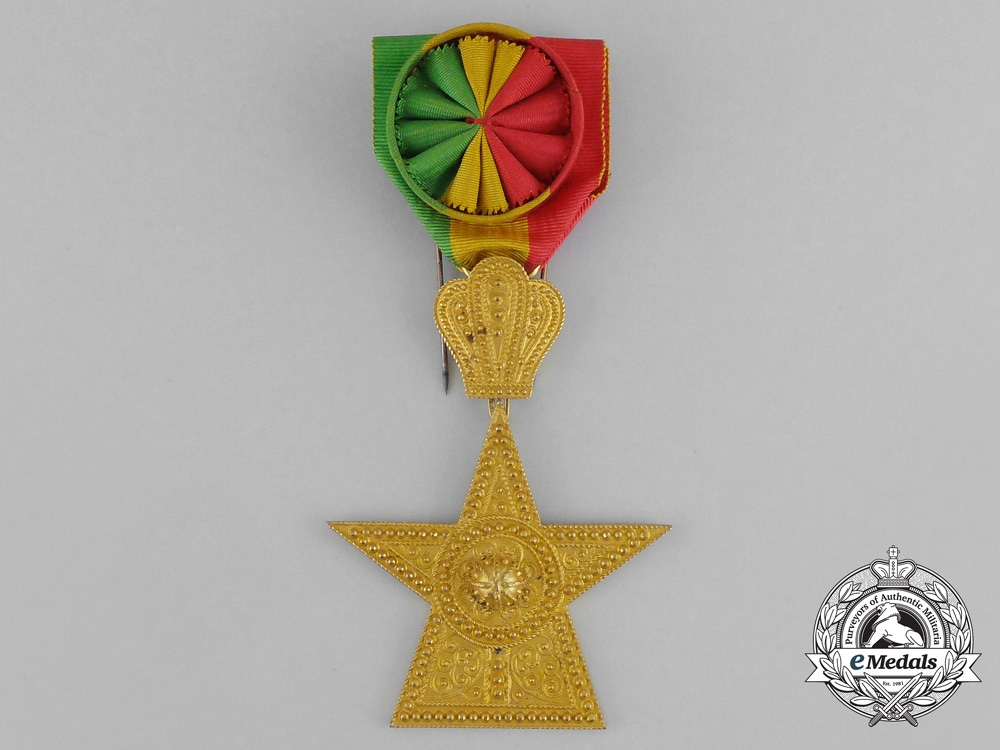 Ethiopia. An Order of the Star, 3rd Class Officer with Case