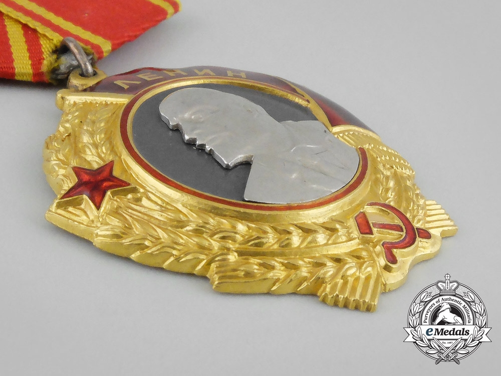 Russia, Soviet. An Order of Lenin, Type 5 with Award Document, c.1945