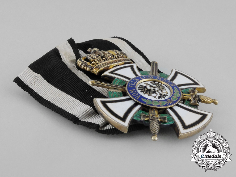 A Royal House Order of Hohenzollern; Knight's Cross with Swords by Wagner