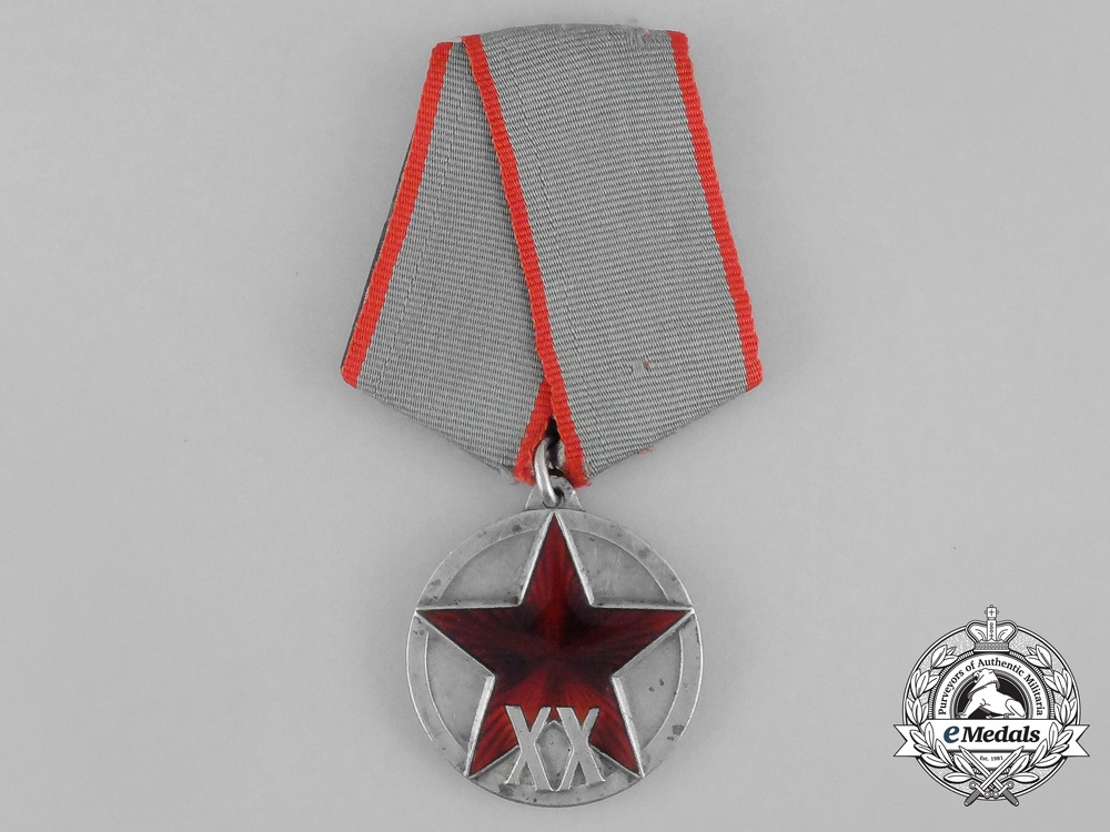 A Soviet Russian Jubilee Medal for 20 Years of the Workers' and Peasants' Red Army 1918-1938