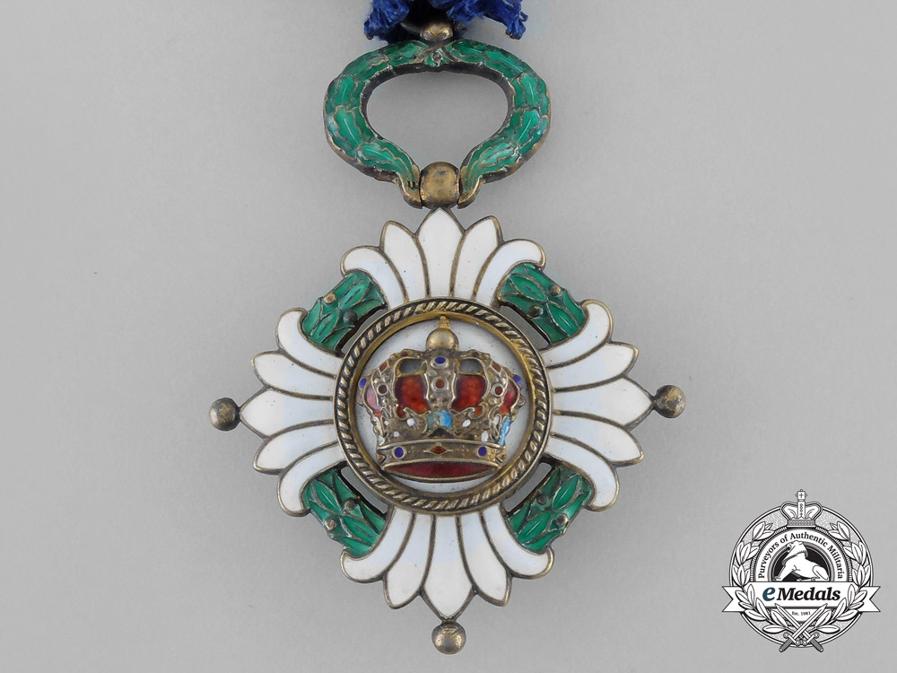Yugoslavia, Kingdom. An Order of the Crown, 5th Class Knight, by Huguenin Freres & C0