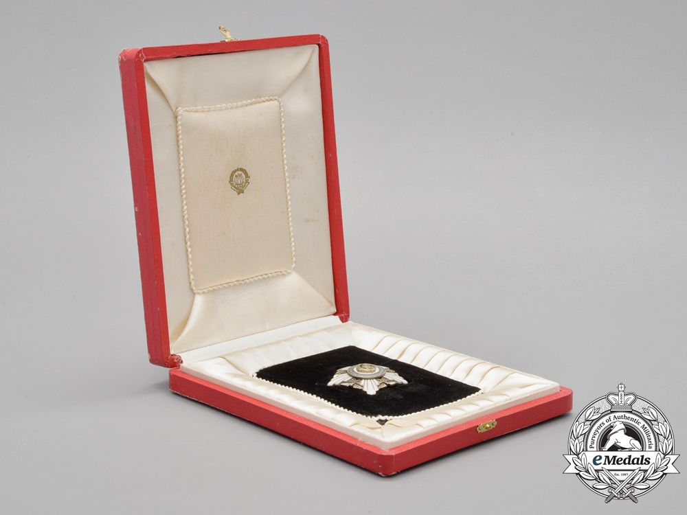 A Yugoslavian Order of the Republic with Silver Wreath; Cased Early Version