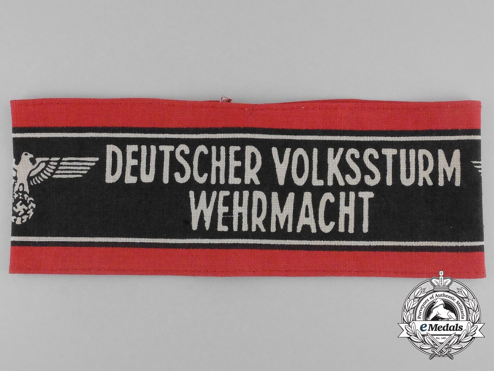 A Second War German Volkssturm of the Wehrmacht Membership Armband