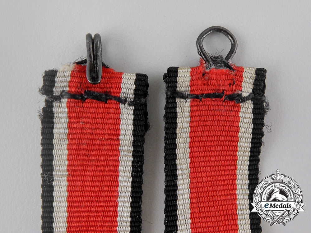 A Narrow Version of a Knight's Cross of the Iron Cross 1939 Ribbon with Loop