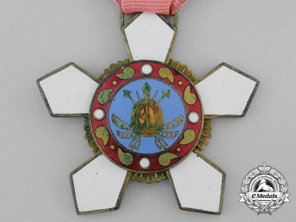 A Korean Order of Military Merit; 4th Class (Hwarang)