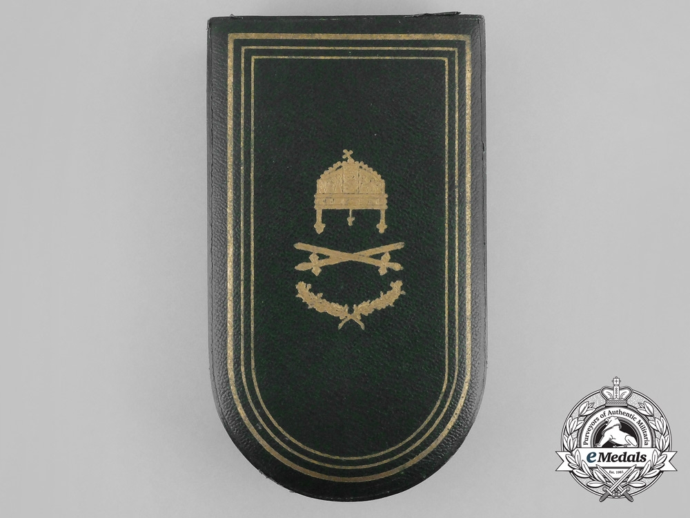 A Hungarian Order of the Holy Crown; Commander's Badge Case