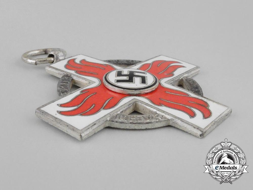 A Mint Cased German Fire Brigade Service Cross Second Class by Glaser & Sohn